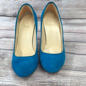 Ivanka Trump Blue Heels Size 7-1/2